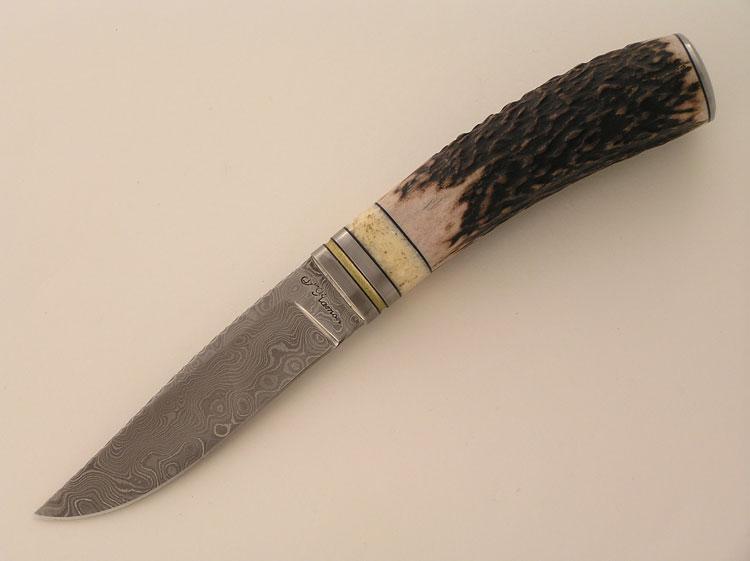 Fixed blade acciaio damasco random