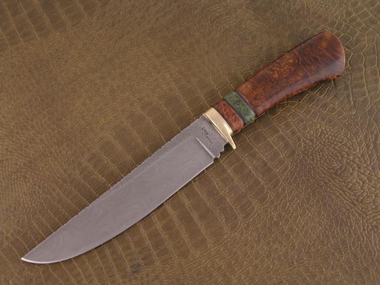 Fixed blade acciaio damasco ritorto